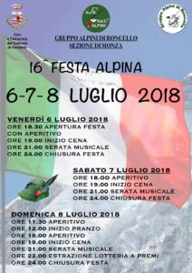 Festa Alpina Roncello @ Roncello