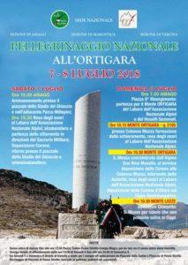 Pellegrinaggio Nazionale all'Ortigara
