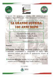 """Conferenza """"La Grande guerra: 100 anni dopo"""" @ Monza"""