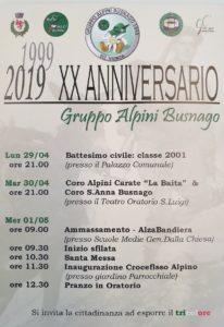 20 anniversario gruppo Busnago @ Busnago