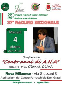 """Conferenza """"Cento anni di A.N.A."""" @ Nova Milanese"""