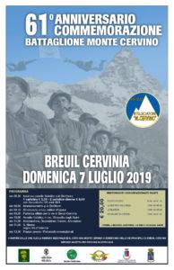 61° anniversario commemorazione Btg Monte Cervino @ Breuil Cervinia