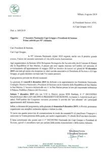 1° incontro capigruppo e Presidenti di Sezione @ Rimini