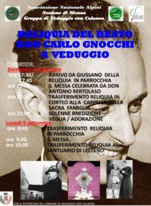 Reliquia del beato Don carlo Gnocchi a Veduggio @ Veduggio