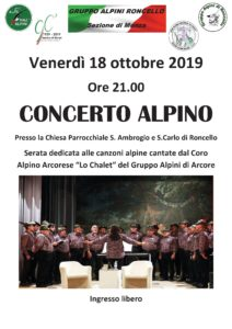Concerto Alpino Roncello @ Roncello